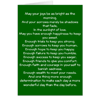 Irish Blessing 4 Note Card