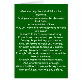 Irish Blessing 4 Note Card