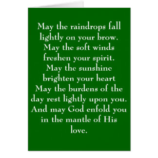 Irish Blessing 5 Note Card