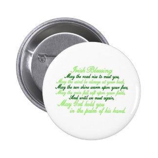 Irish Blessing 6 Cm Round Badge