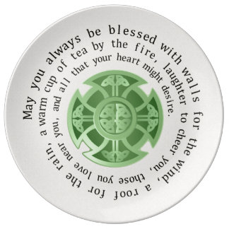 Irish Blessing and Celtic Cross Plate