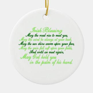 Irish Blessing Christmas Ornament