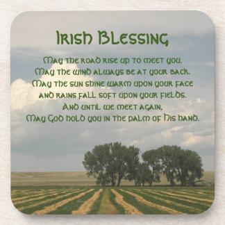Irish Blessing Farmland Photo Beverage Coaster