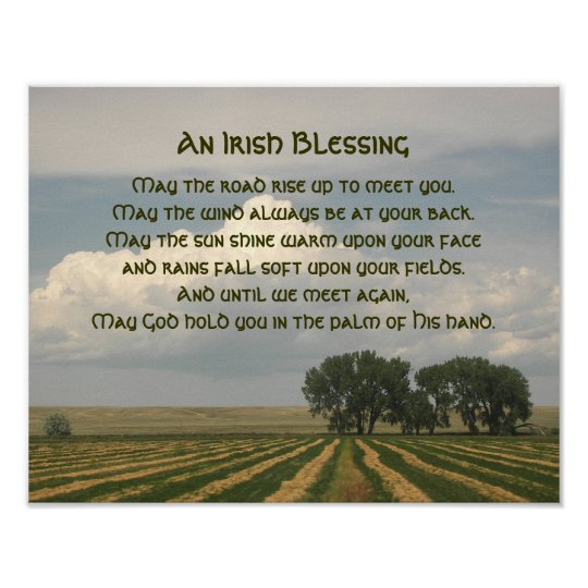 Irish Blessing Farmland Photo Poster