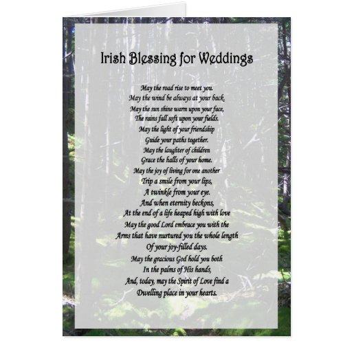 Irish Blessing For Weddings Card