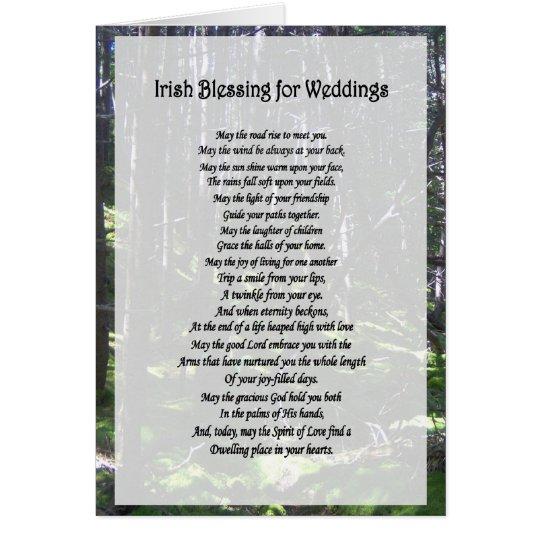 Irish Blessing for Weddings Card - Blank Inside