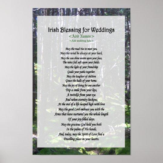 Irish Blessing for Weddings - Customise Poster