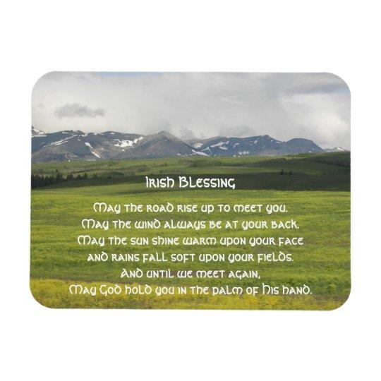 Irish Blessing Green Valley Photo Rectangular Photo Magnet