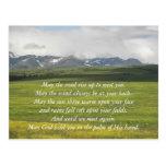 Irish Blessing Green Valley Postcard