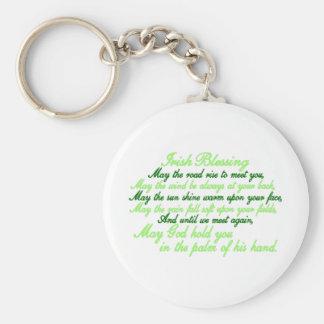Irish Blessing Basic Round Button Key Ring