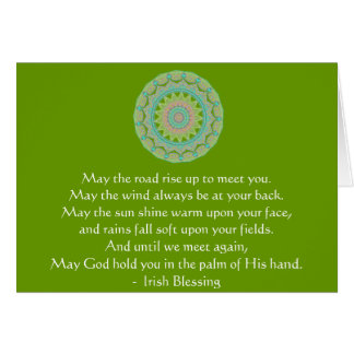 Irish Blessing may the road Greeting Card