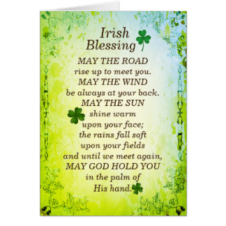 Irish Blessing, May the Road Rise Up to Meet You Card