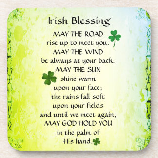 Irish Blessing, May the road rise up to meet you Coaster