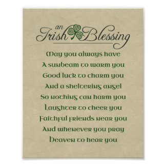 Irish Blessing Poster