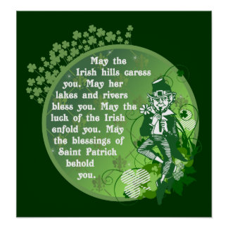 Irish Blessing Poster $25.00