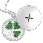 Irish Blessing Round Locket Necklace