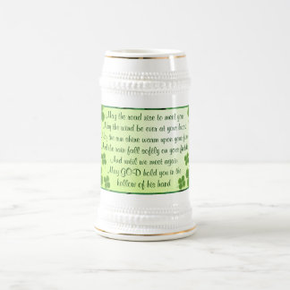 Irish blessing stein