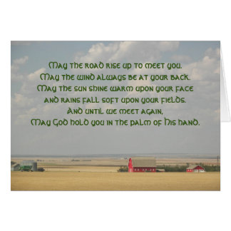 Irish Blessing Wheat Fields Photo Card