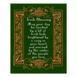 Irish Blessing with Celtic Font and Background