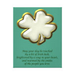 Irish blessing with shamrock St. Patrick's Day Gallery Wrap Canvas