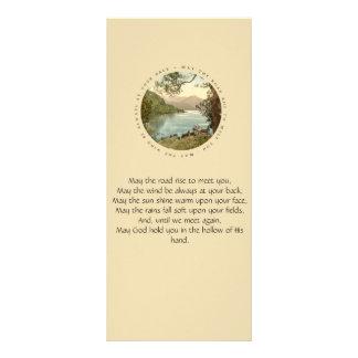 Irish Blessing with Vintage Lake in Ireland Customised Rack Card