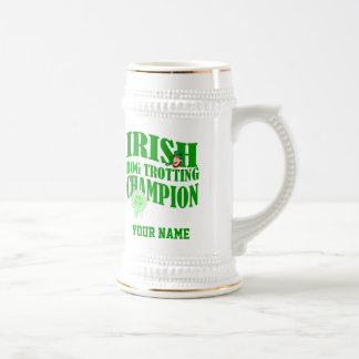 Irish bog trotting champion, beer stein