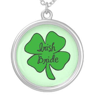 Irish Bride Round Pendant Necklace