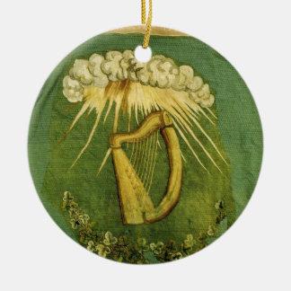 Irish Brigade Flag Round Ceramic Decoration