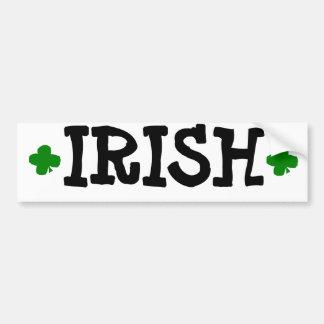 """IRISH"" CAR BUMPER STICKER"