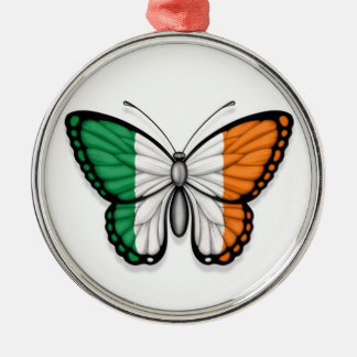 Irish Butterfly Flag Christmas Ornament