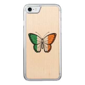 Irish Butterfly Flag on Green Carved iPhone 8/7 Case