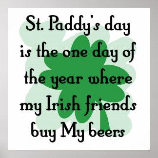 irish buy my beer print