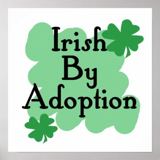 Irish by adoption poster