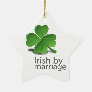 Irish by marriage design christmas ornament