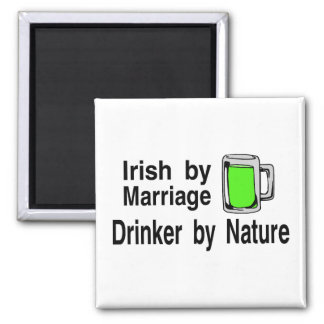 Irish By Marriage Drinker By Nature 2 Refrigerator Magnets