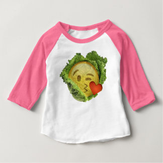 irish cabbage  love emoji lucky st patrick's day baby T-Shirt