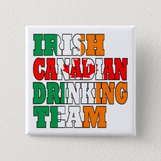 Irish Canadian Drinking Team 15 Cm Square Badge