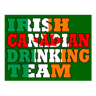 Irish Canadian  drinking team Postcard