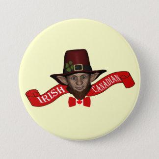 Irish Canadian funny patriotic 7.5 Cm Round Badge
