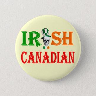 Irish Canadian St Patrick's day 6 Cm Round Badge