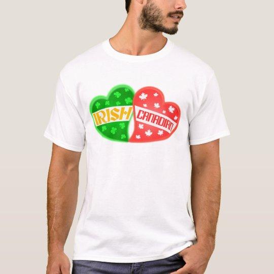 Irish Canadian St. Patrick's Day Heart T-Shirt