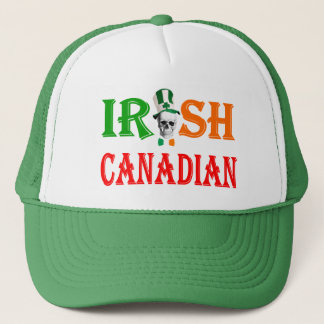 Irish Canadian St Patrick's day Trucker Hat