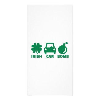 Irish car bomb custom photo card