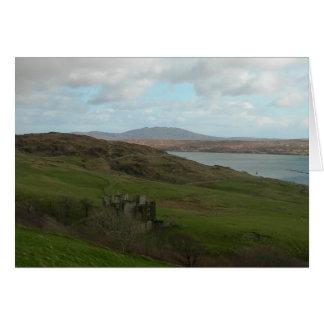 Irish Castle in Connemara (Blank) Card