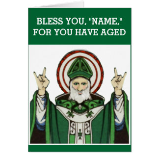 Irish Catholic birthday Card