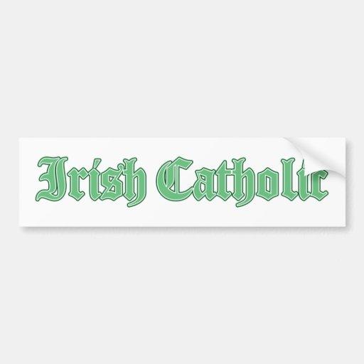 Irish Catholic Bumper Sticker