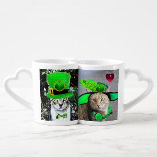 IRISH CATS LOVERS WITH SHAMROCKS  St.Patrick's Day Lovers Mug