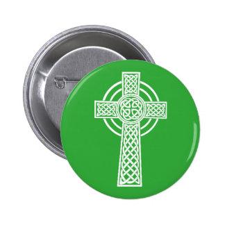 Irish Celtic Cross Button Pin