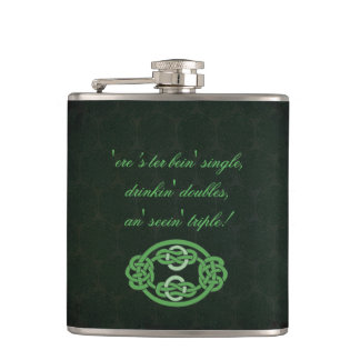 Irish Celtic Knot Flask