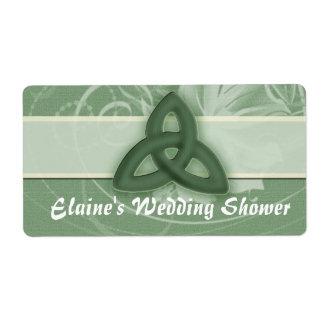 Irish Celtic Knot Label for wedding shower